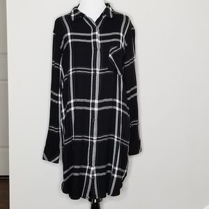 Rails | Bianca Black & White Plaid Shirtdress | M